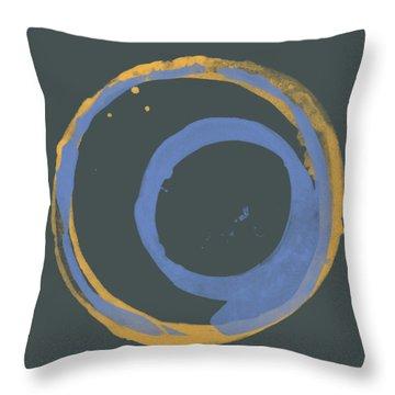 Orange And Blue 3 Throw Pillow by Julie Niemela
