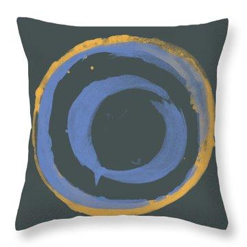 Orange And Blue1 Throw Pillow