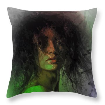 Orange And Green Throw Pillow
