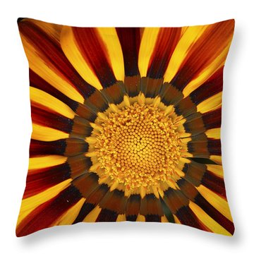 Orange And Yellow Over And Over Throw Pillow