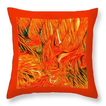 Throw Pillow featuring the photograph Orange Art by Colette V Hera Guggenheim