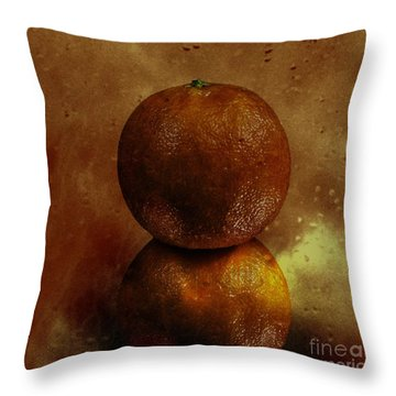 Orange Art Throw Pillow
