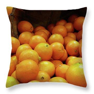 Orange Basket Throw Pillow