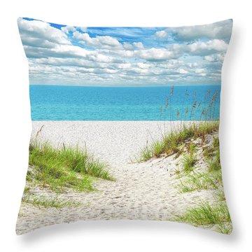 Orange Beach Al Seascape 1086a Throw Pillow