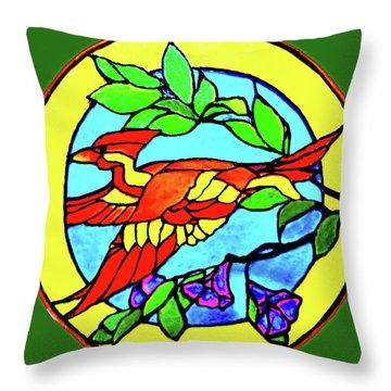 Orange Beauty Throw Pillow by Farah Faizal