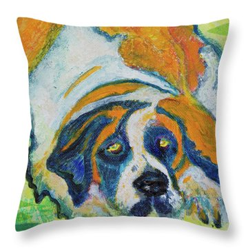 Orange Bernard Throw Pillow