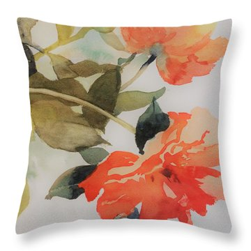 Orange Blossom Special Throw Pillow by Elizabeth Carr
