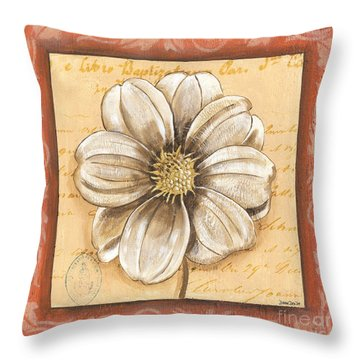 Orange Bohemian Dahlia 1 Throw Pillow