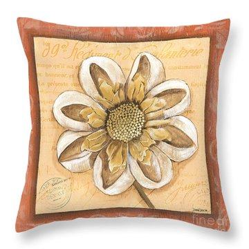 Orange Bohemian Dahlia 2 Throw Pillow
