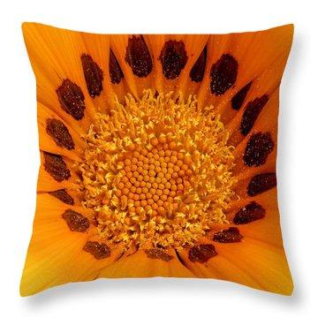 Orange Burst - Daisy Throw Pillow