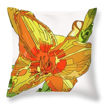 Orange Canna Lily Throw Pillow by Jamie Downs