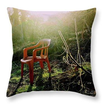 Orange Chair Throw Pillow by Bernard Jaubert