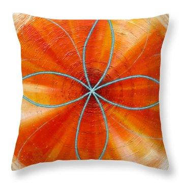 Orange Chakra Throw Pillow by Anne Cameron Cutri