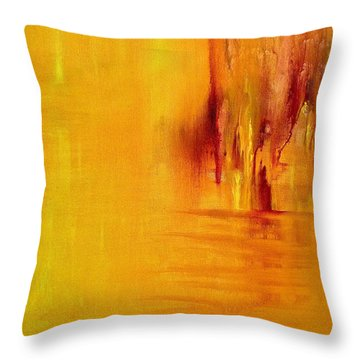 Throw Pillow featuring the painting Orange by Claire Bull