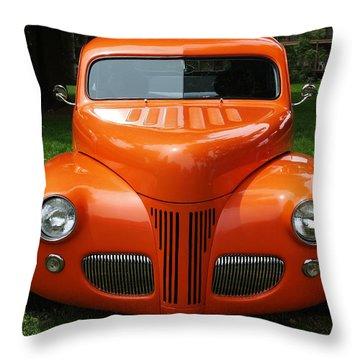Orange Classic  Throw Pillow