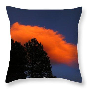 Orange Cloud Throw Pillow