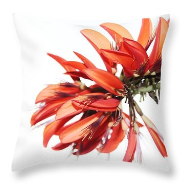 Orange Clover I Throw Pillow
