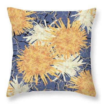 Orange Cobwebs Pattern Throw Pillow