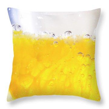 Orange Cocktail Glass Throw Pillow
