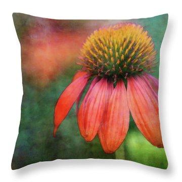 Orange Coneflower 2576 Idp_2 Throw Pillow