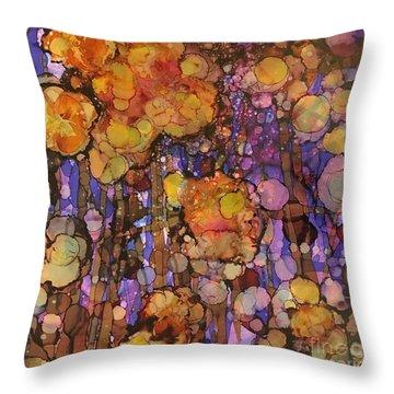 Passion Poppies Throw Pillow