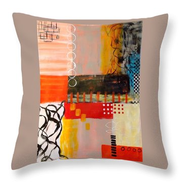 Orange Crush Throw Pillow by Suzzanna Frank