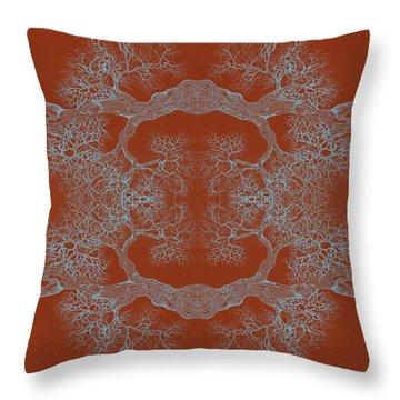 Orange Desire Tree 8 Hybrid 1 Throw Pillow