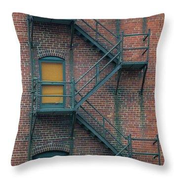 Orange Door Throw Pillow