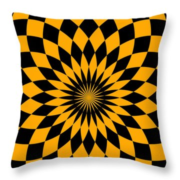 Throw Pillow featuring the digital art Orange Energy by Lucia Sirna