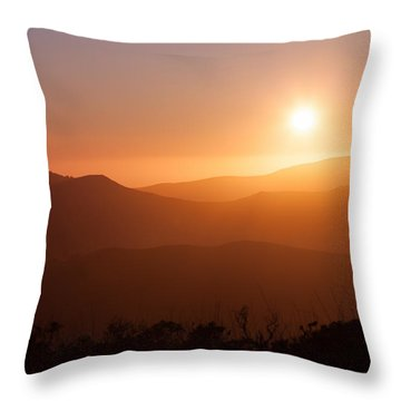 Orange Euphoria Throw Pillow