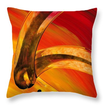 Orange Expressions Throw Pillow by Sharon Cummings