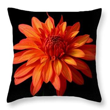 Orange Flame Throw Pillow