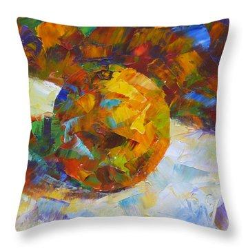 Orange Flash Throw Pillow