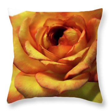 Orange Flower Throw Pillow by Maggy Marsh