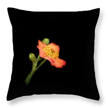Orange Flowers In The Summer Throw Pillow