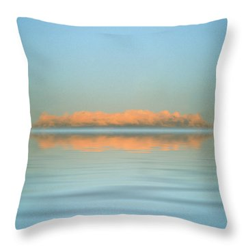 Orange Fog Throw Pillow by Jerry McElroy