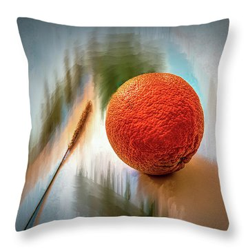 Orange #g4 Throw Pillow