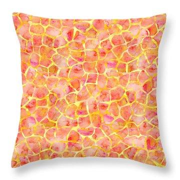 Orange Giraffe Print Throw Pillow