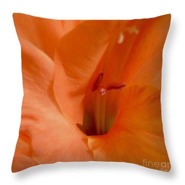 Orange Glad Throw Pillow