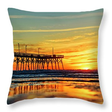 Throw Pillow featuring the photograph Orange Glow by DJA Images