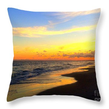 Orange Glow Sunset Throw Pillow