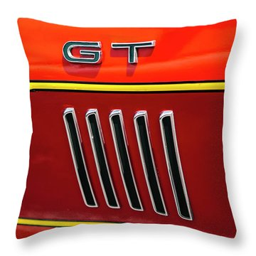 Orange Gt Throw Pillow