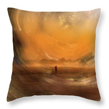 Orange Gust Throw Pillow