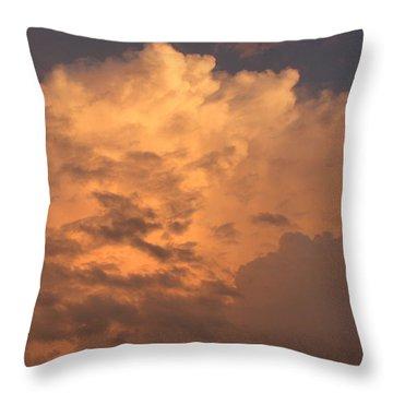 Orange Hue Throw Pillow