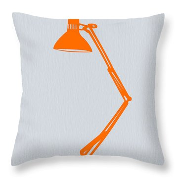 Orange Lamp Throw Pillow