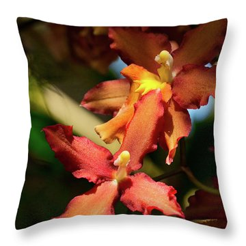 Throw Pillow featuring the photograph Orange Leap by Richard Goldman