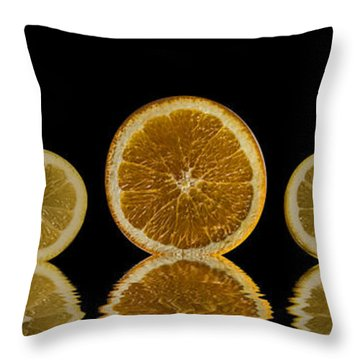 Orange Lemon Reflection Throw Pillow