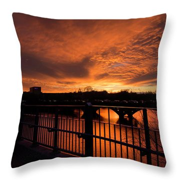 Orange Light Throw Pillow