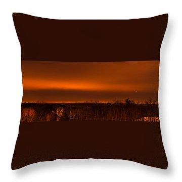 Orange Light Throw Pillow