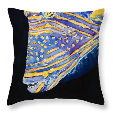 Orange-lined Trigger Throw Pillow by Tanya L Haynes - Printscapes